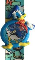 Donald Duck horloge met slap on bandje