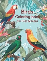 Birds Coloring Book for Kids & Teens