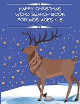 Happy Christmas Word Search Book for Kids Ages 4-8