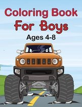 Coloring Book For Boys Ages 4-8