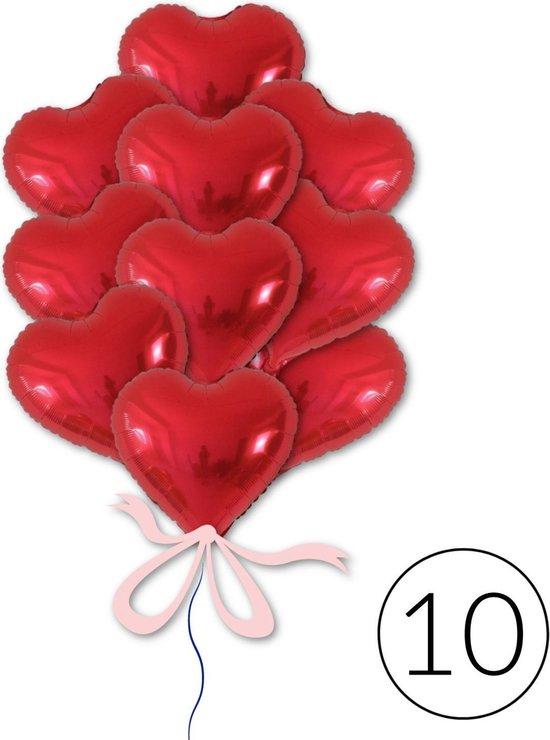 10 Ballonnen Hart Rood voor Moederdag, Valentijn of Bruiloft | Geschikt voor Helium