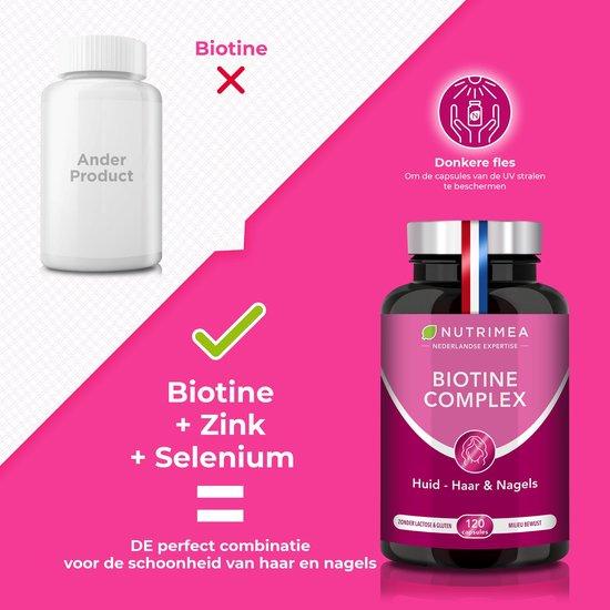 Biotine • Haar Nagels Huid • Vitamine B • Zink • NUTRIMEA • 120 caps