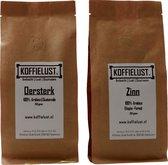 Koffielust - Oersterk & Zinn proefpakket - Koffiebonen - Specialty koffie - Vers Gebrand - Hele Bonen - 100% Arabica - Robusta - Single origin - Guatamala & Ethiopië