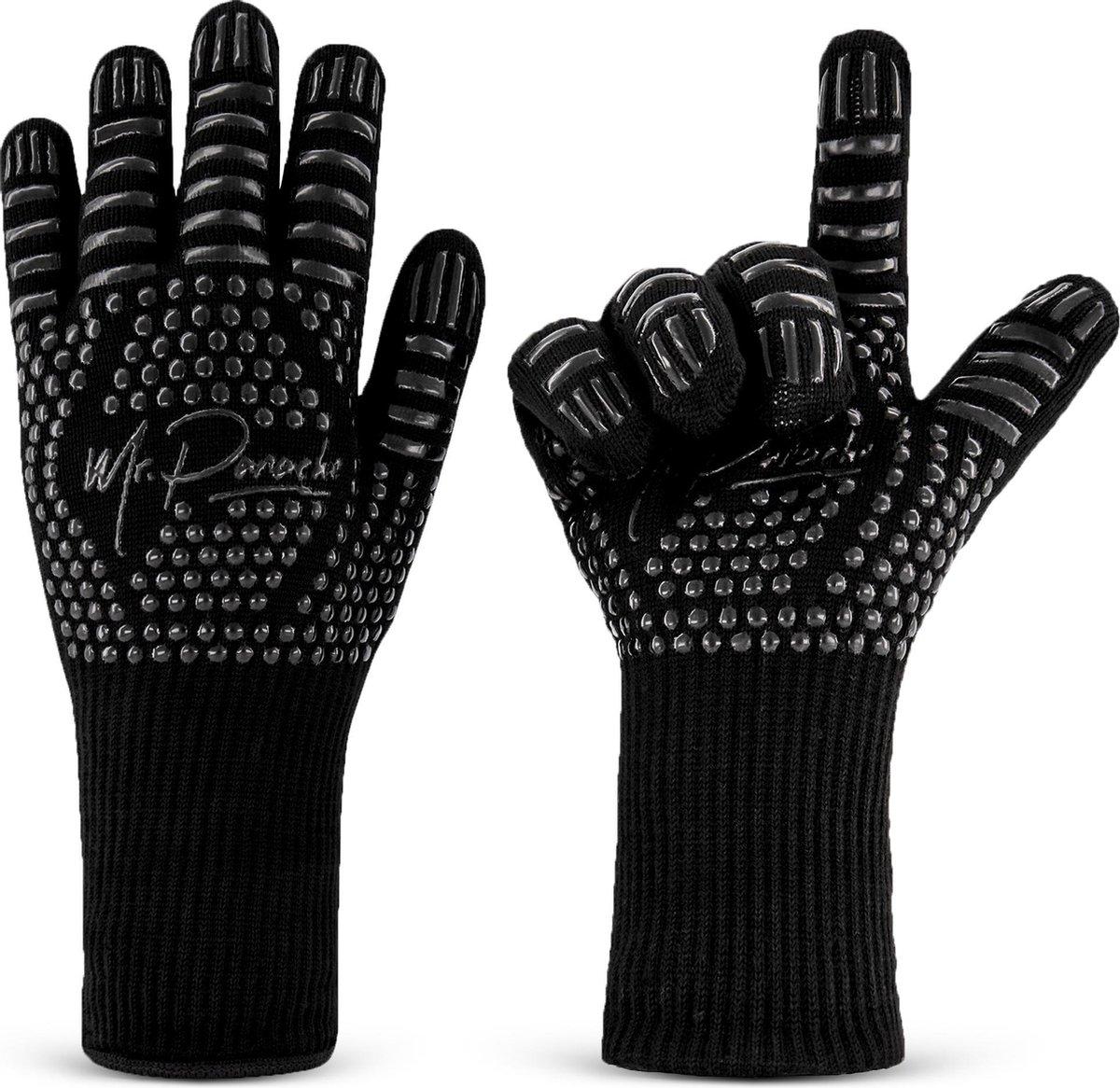 MR. PANACHE™ Ovenhandschoenen ( 2 stuks) - EN407 Certificaat - tot 500°C - Hittebestendig - BBQ Hand