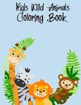Kids Wild Animals Coloring Book