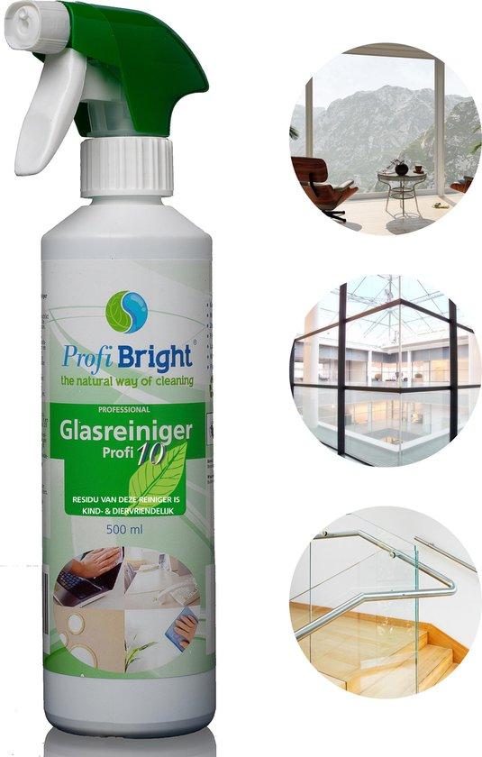 ProfiBright Consument - Glasreiniger Profi10 - Geen waas - Streeploos - Geschikt voor beeldschermen ed - Dierproefvrij - 500 ml