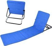 MaxxGarden Strandmat opvouwbaar- strandstoel verstelbaar rugleuning 3 standen Blauw