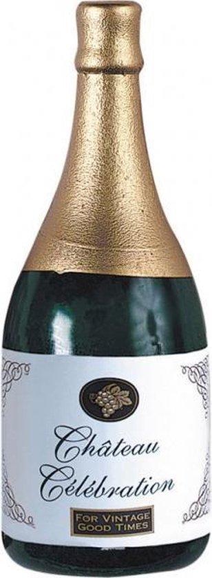 Amscan Ballongewicht Champagnefles 13 Cm Groen/goud
