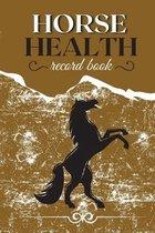Horse Health Record Book