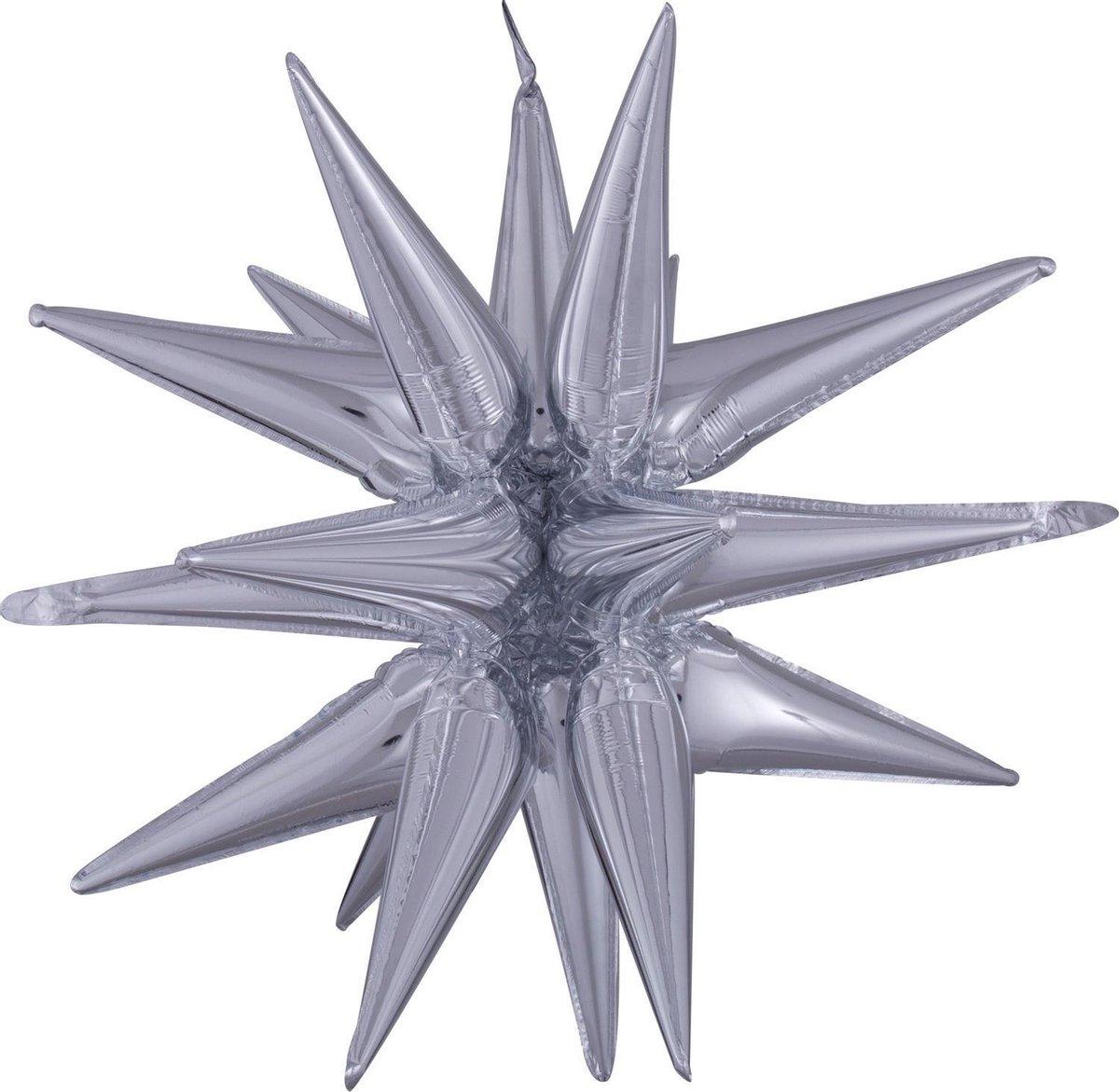 Amscan Folieballon Magic Star 76 X 88 Cm Zilver