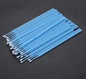 100 stuks (1 zakje a 100 stuks) Wegwerp Microbrushes - Wimpers Uitbreiding  - Individuele Lash Verwijderen -  Wattenstaafje - Micro Borstel Voor Wimper Extensions Tool- microbrushs -