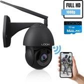 Looki® 360PRO Beveiligingscamera voor Buiten  - Full HD - WIFI IP camera - met 32GB SD-kaart & Cloud - Zwart