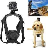 Hondenriem harnas - Dual Action Cam - Camera-accessoires - Verstelbare hond Harnas - Zwart