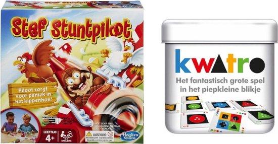 Afbeelding van het spel Spellenset - Bordspel - Stef Stuntpiloot & Kwatro