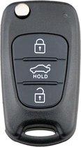 Autosleutel 3 knoppen klapsleutel geschikt voor Hyundai sleutel / Accent / Avante / Veloster / i10 i20 i30 iX35 / Kia Picanto / Sportage / K2 K5 / Hyundai sleutel behuizing-O3B