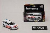 Kids Globe Politiewagen Volvo V70 met licht en geluid - Speelgoedvoertuig: schaal 1:21