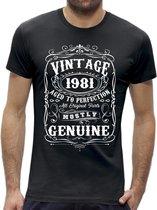 Perfection 40 jaar verjaardag t-shirt / kado tip / Heren / cadeau / leeftijd