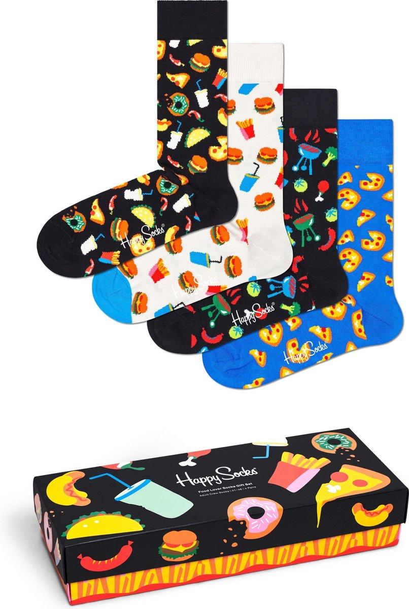 Happy Socks XFOO09-9300 Food Lover Four Pack Gift Box - Maat 41-46