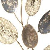 Decoratie - Gouden/zilveren decor bladeren van staal