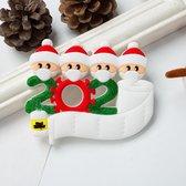 Kerst Ornament | Kerstversiering | Kerstbal | Kerstcadeau | 4 kerstmannen  | 2020 | Mondmaskers | handreiniger | wcpapier