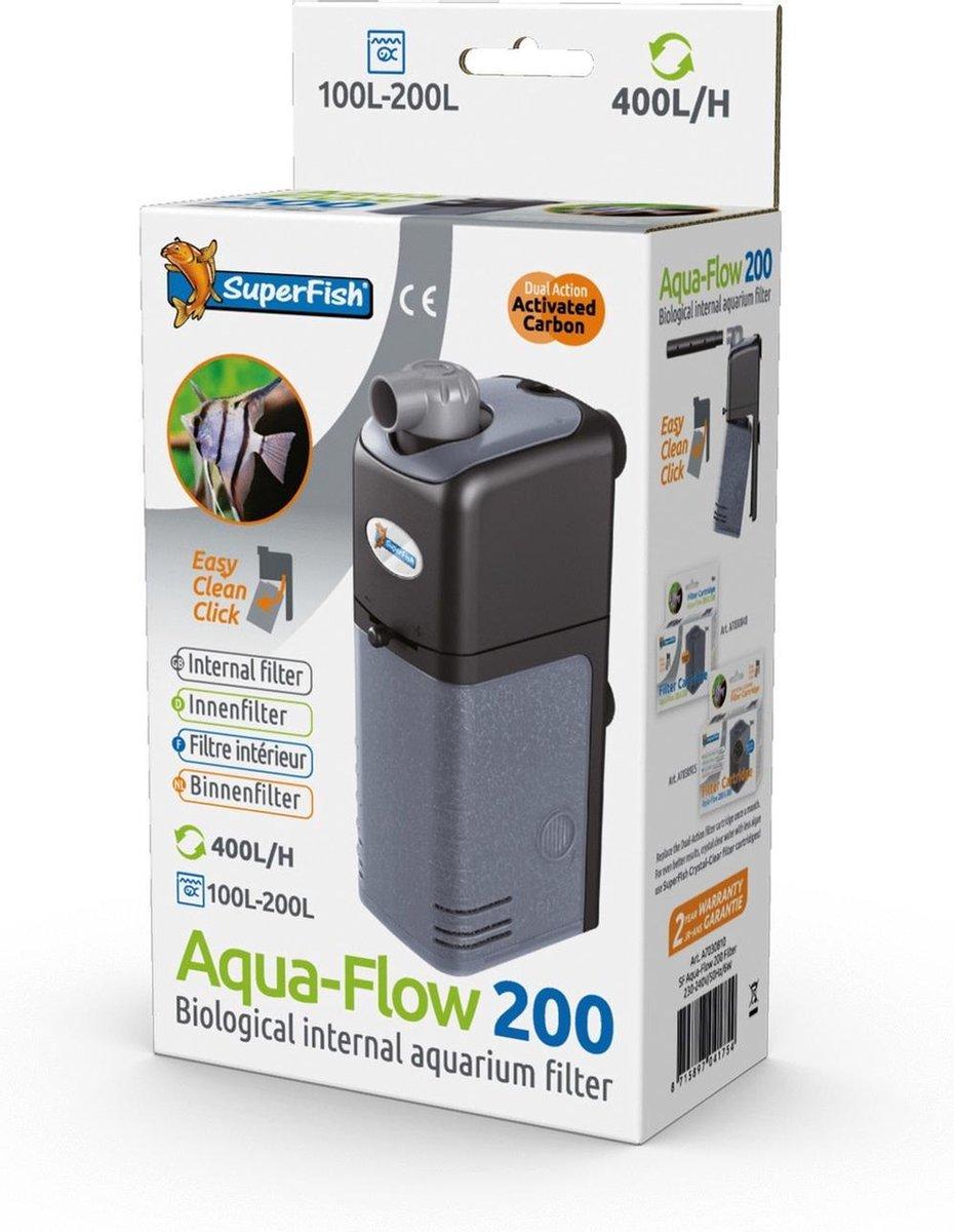 SuperFish AquaFlow Dual Action 200 - Aquariumfilter - 400 L/H