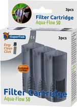 Superfish 50 AquaFLow Easy Click Cartridge - Aquariumfilter - Navulling - 3 Stuks