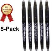 5x Uitgumbare Pen – Balpen – Uitwisbare Pen - 0,5 mm Fine – Erasable Pen – Zwart