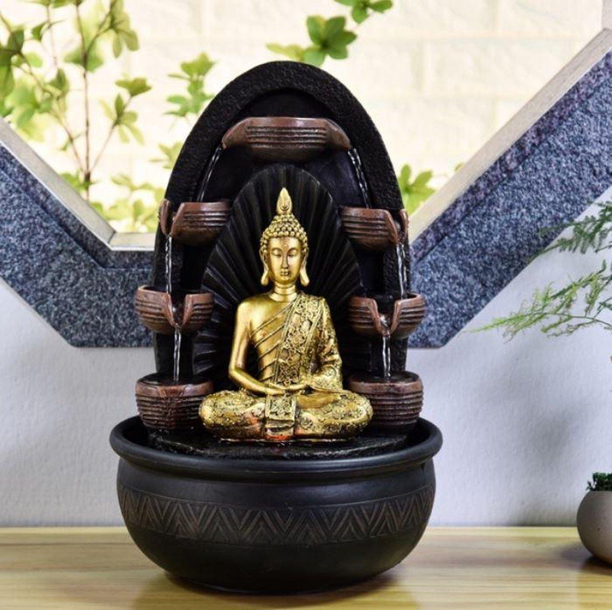 Boeddha Chakra Relax - fontein - interieur - fontein voor binnen - relaxeer - zen - waterornament - cadeau - geschenk - relatiegeschenk - origineel - lente - zomer - lentecollectie - zomercollectie - afkoeling - koelte
