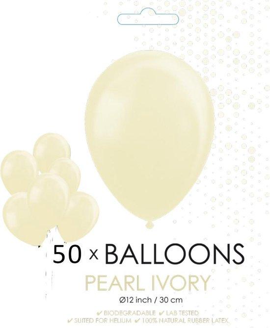 Globos Ballonnen 30,5 Cm Latex Ivoorwit 50 Stuks