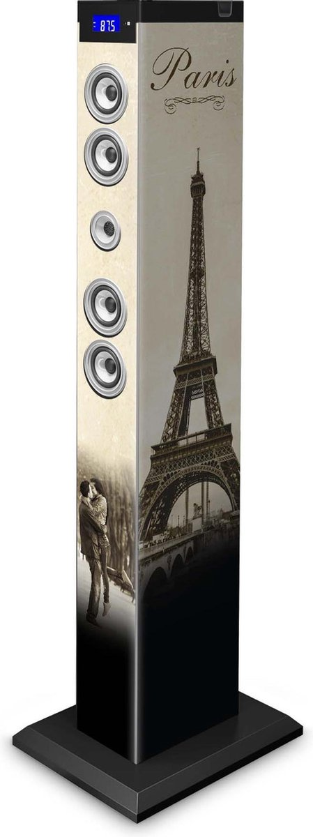 Bigben Multimedia Speaker Toren - CD/Bluetooth/Radio/USB/SD - Parijs