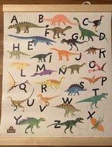 Freek vonk dinosaurus poster 51x41 cm, dinoposter, dino's, Freeks dinotijd - Alphabet