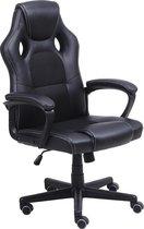 Alora Gaming stoel LB-Racestoel zwart - Bureaustoel - Gaming Chair - gamingstoel - game stoel - game chair - kunstleer - verstelbaar in hoogte - Gamestoel
