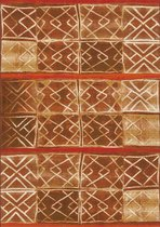 Aledin Carpets Malabo - Tuintapijt - Vloerkleed 160x230 cm - Geel Rood Bruin - Buitenkleed - Buitentapijt