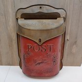 Brievenbus Postbus Nostalgie Verzinkt Vintage Brocante Rood