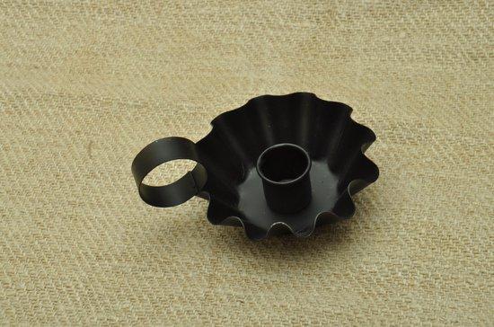 Kolony Kandelaar, Blaker, zwart metaal, klein formaat, afm.6x11x9 cm,
