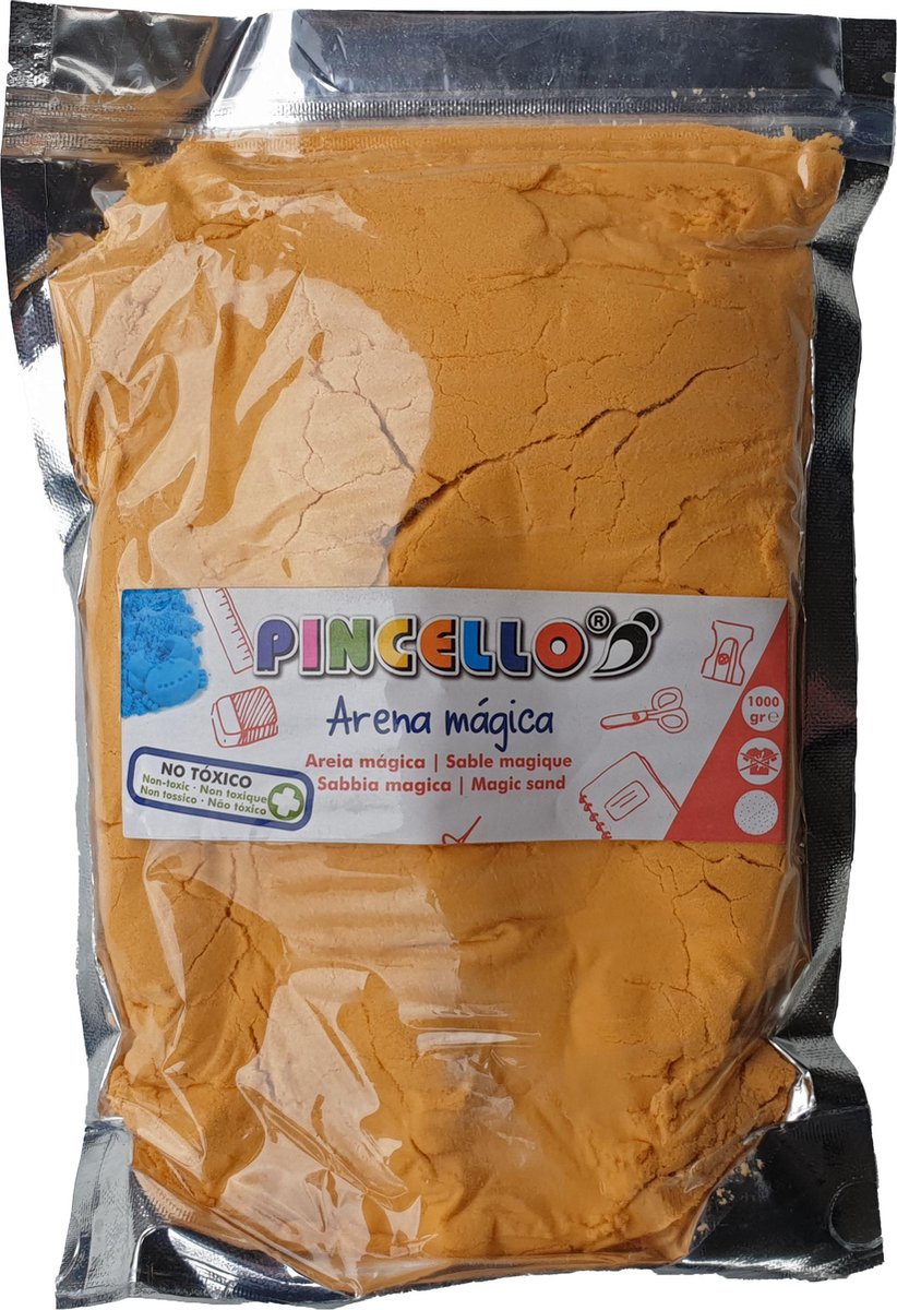 Speelzand voor binnen - Oranje - kneedbaar -1000 gram