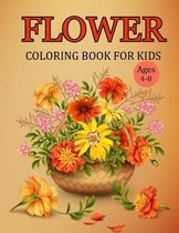Flower Coloring Book For Kids ages 4-8