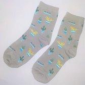 """Vrolijke dames sokken """"Cactus"""""""