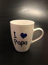 "BEKER  | ""I ♥ PAPA"" | CREME | 36cl *** VADERDAG ***"