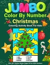 Jumbo Color By Number Christmas Coloring Activity Book For Kids
