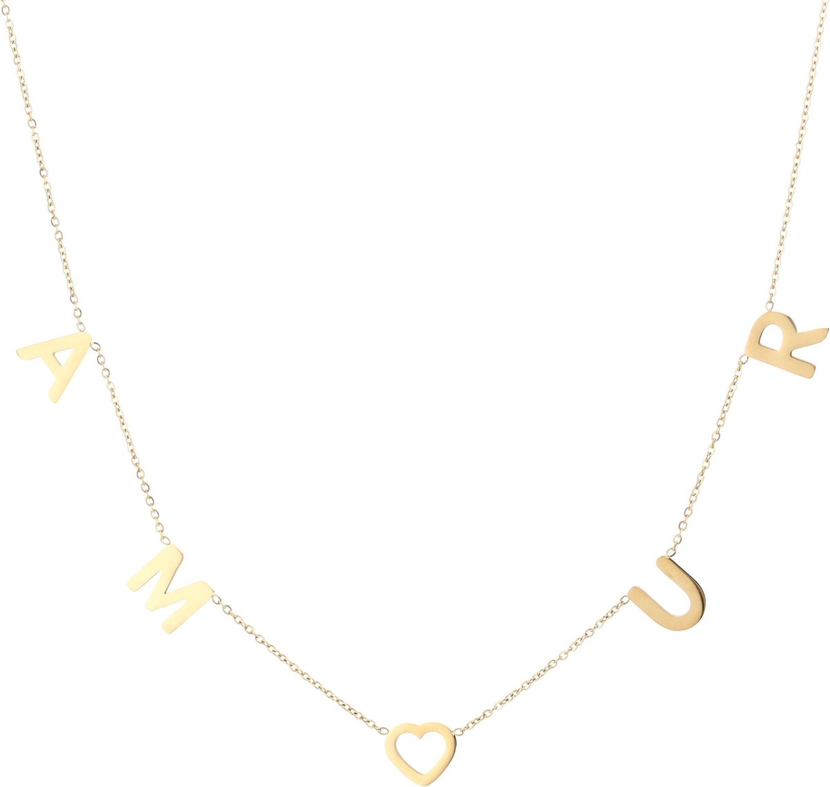 Amour Ketting - Goud -  Stainless steel - Dames ketting