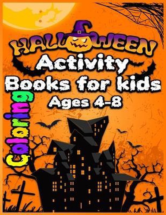 Halloween Activity Coloring Book For Kids Ages 4-8