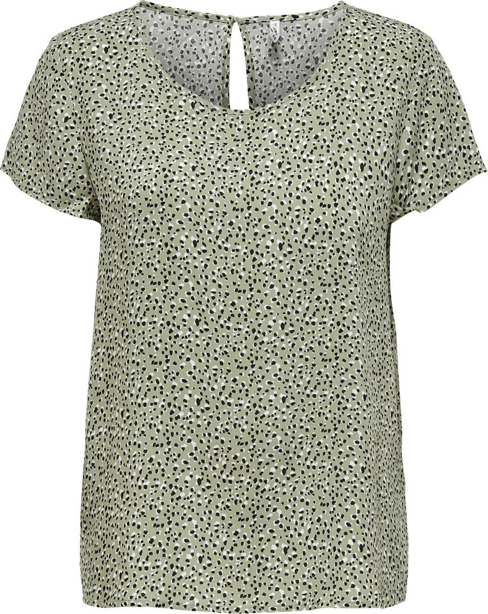 ONLY ONLFIRST ONE LIFE SS AOP TOP NOOS WVN Dames T-Shirt - Maat 42