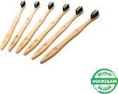 4+2 Bamboe Tandenborstels - Zero Waste - Vegan - Bamboo Toothbrushes