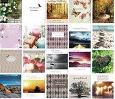 20 Luxe Condoleance wenskaarten - Oprechte Deelneming - 12x11cm - Gevouwen kaart met envelop