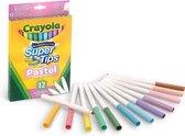 Crayola Supertips 12 pastel viltstiften met superpunt