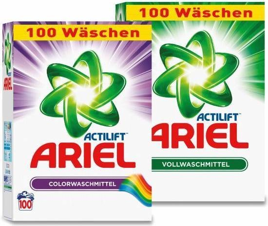 Ariel waspoeder combi Voordeelverpakking | 2 X 100 wasbeurten 2 X 6.5 KG - Ariel Color + Regular Waspoeder | Voor gekleurde en witte was