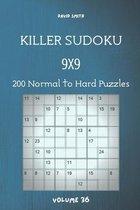 Killer Sudoku - 200 Normal to Hard Puzzles 9x9 vol.36