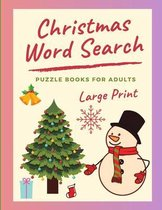 Christmas Word Search Puzzle Books For Adults Large Print
