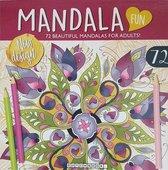 Kleurboek Mandala voor Volwassen met 72 Kleurplaten  inclusief een flamingo sleutelhanger